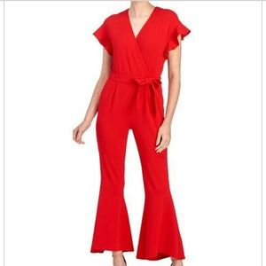 Fun and Flirty is this Red Jumpsuit💋